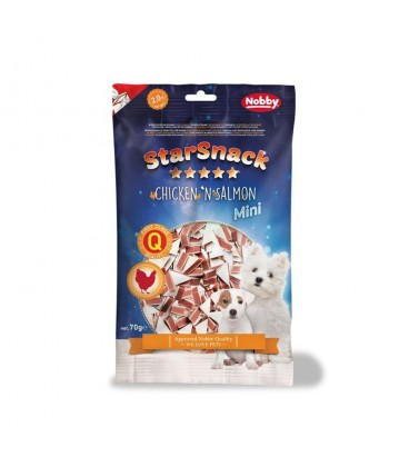SNACK PUPPY CHICKEN SALMON 70gr