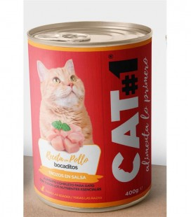 CAT1 BOCADITOS POLLO 0.4 KG