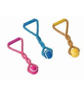 TOY COTTON ROPE GANDLE+BALL 29cm