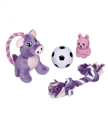 TOY STARTER DOG SET 4 PIECES