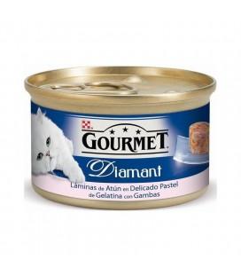 GOURMET GOLD DIAMANTE- ATÚN CON GAMBAS 85 gr